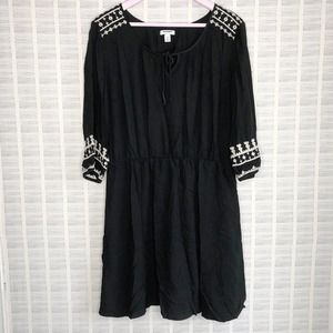 Old Navy Black Boho Dress